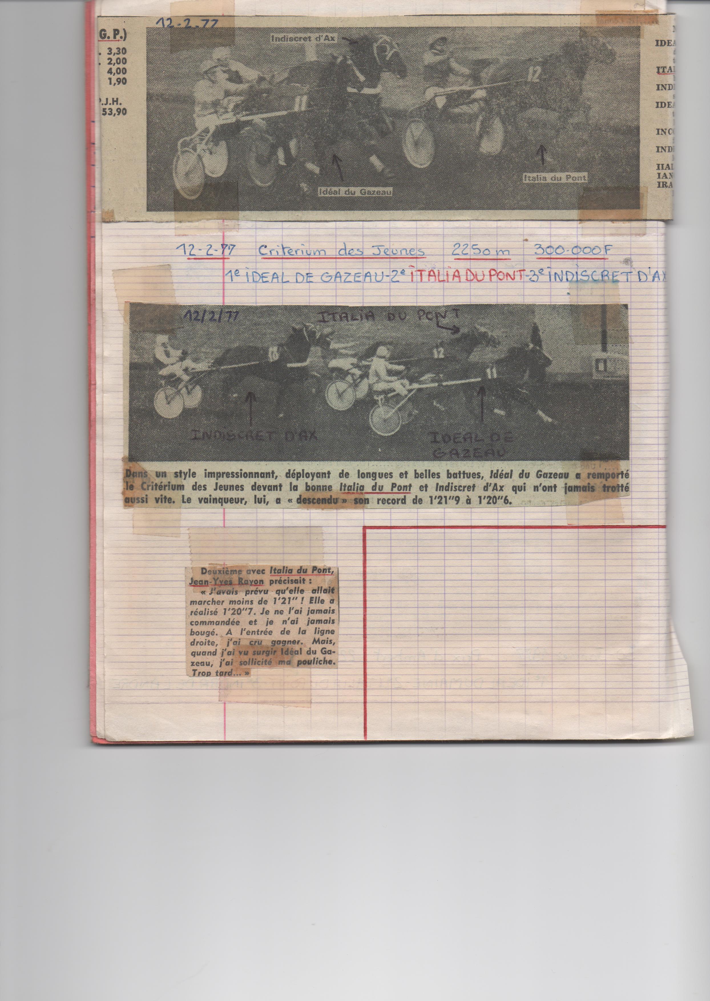 1977 02 12 Italia du Pont Criterium des Jeunes