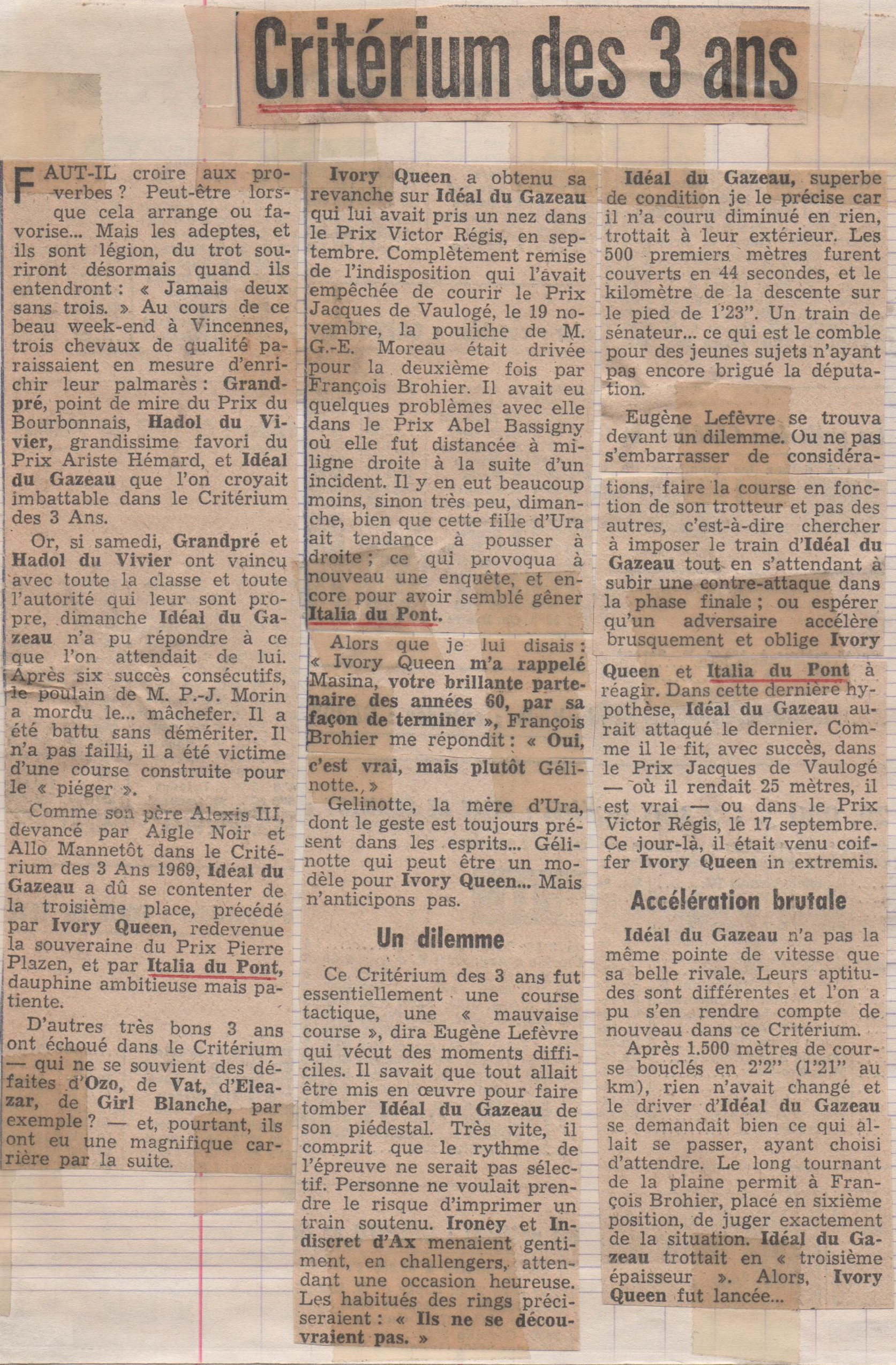 1977 Italia du Pont Criterium des 3 ans (1)