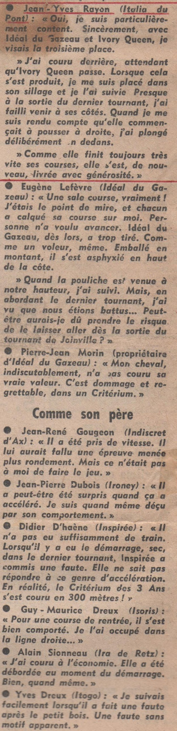 1977 Italia du Pont Criterium des 3 ans (3)