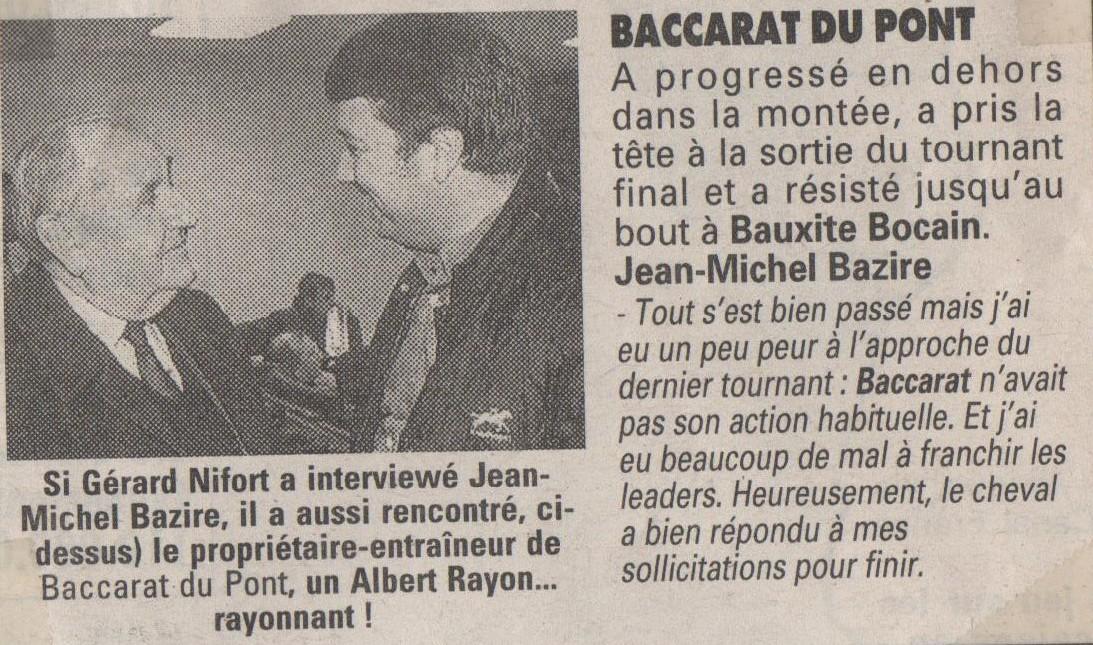 1995 11 23 Albert parle de Baccarat du Pont