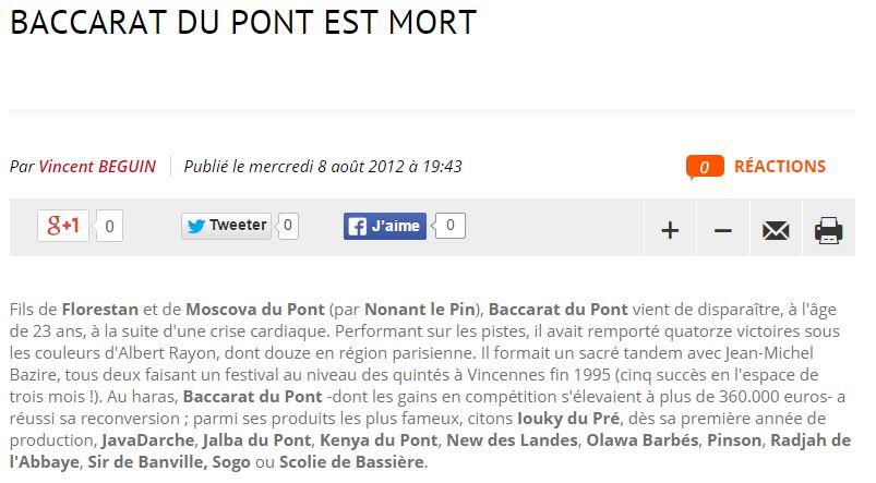 Baccarat du Pont mort