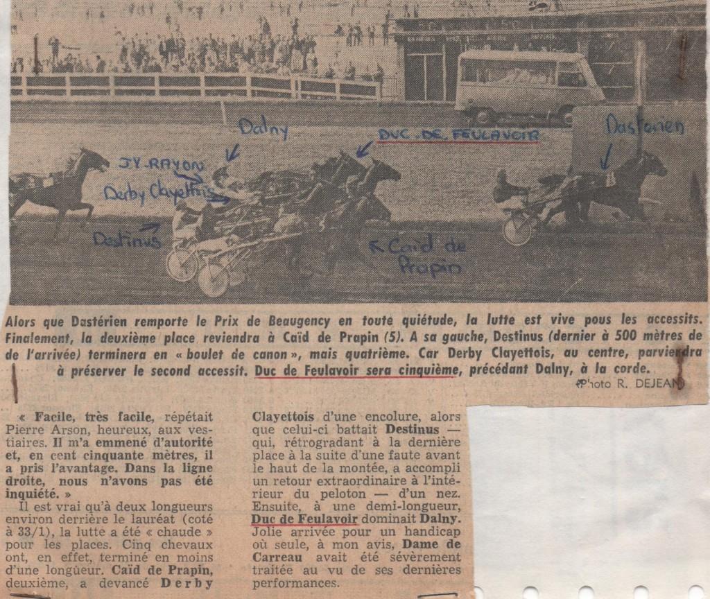 1975 Duc de Feulavoir Prix de Beaugency