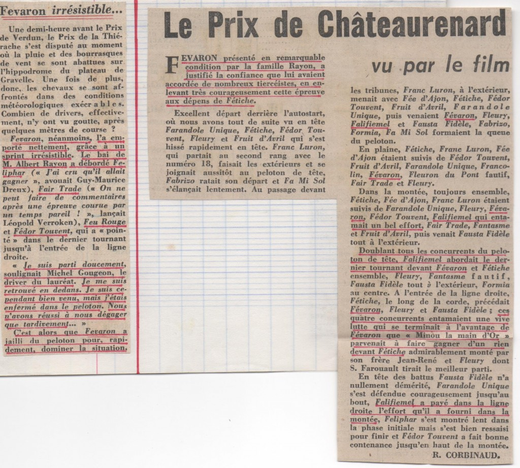 1977 Fevaron Prix de Chateaurenard