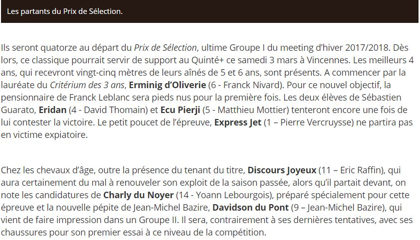 2018 02 28 Article PT Prix de Selection